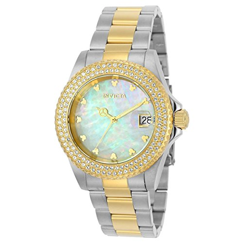 Invicta Women's 'Disney Limited Edition' Quartz Stainless Steel Casual Watch, Color:Two Tone (Model: 22732)