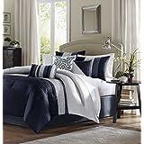 Madison Park Amherst Comforter Set, Queen, Navy