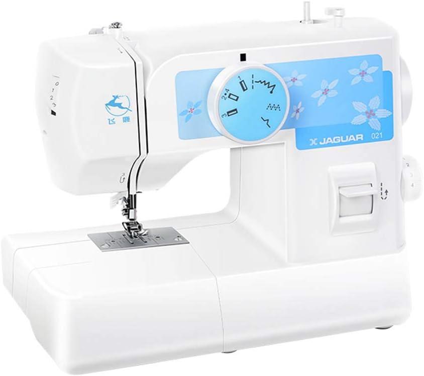 HYDD Mini máquina de Coser de Uso doméstico,Escritorio práctico eléctrico/con Costuras Gruesas,Adecuado para Coser Principiantes