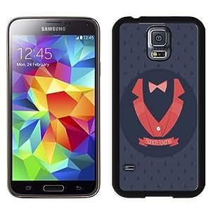 NEW Unique Custom Designed Samsung Galaxy S5 I9600 G900a G900v G900p G900t G900w Phone Case With Santas Favorite Evil Character_Black Phone Case