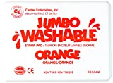 Center Enterprise CE5502 Jumbo Washable Stamp Pad, Orange
