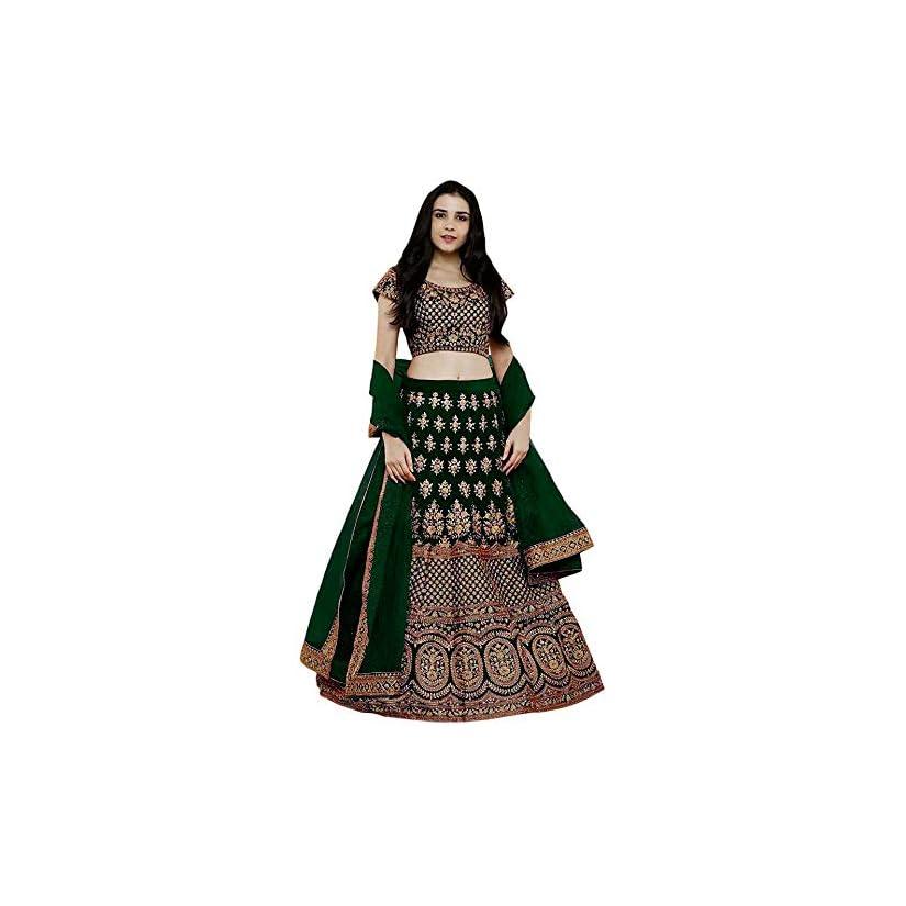 Best Ethvilla Women's Pure Silk Embroidered Semi stitched Lehenga choli with Dupatta In India 2020