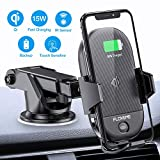 Wireless Car Charger Mount [Qi Certified] FLOVEME Fast Car Wireless Charger 15W Auto Clamping Hand Free Car Dashboard Air Vent Phone Holder Compatible for iPhone Xs Max/XR/X Samsung S10 Plus S9 Note 9