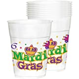Mardi Gras Plastic 14oz Cups 25ct by Party America