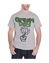 Green Day T Shirt Vintage Flower Pot Kerplunk Band Logo Mens Grey Black