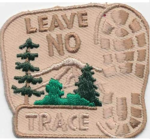 Cub Girl Boy LEAVE NO TRACE Embroidered Iron-On Fun Patch Crests Badge Scout Guidesdo