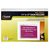 17'' x 11'' Horizontal Wall Mount Sign Holder, Clear