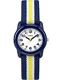 Boys TW7C05800 Time Machines Blue/Yellow Stripes Elastic Fabric Strap Watch