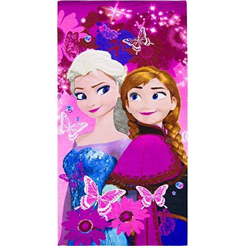 Disney Frozen Princess Elsa and Anna Kids Beach Towel 70 X 140 cm (Pink)