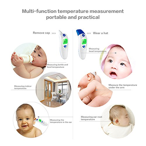 Dom Marzen Thermometer Ear Temperature Forehead Fever belly electronic Contact IR Baby Child Adult Old man FDA Without contact pingpang by Dom Marzen (Image #1)