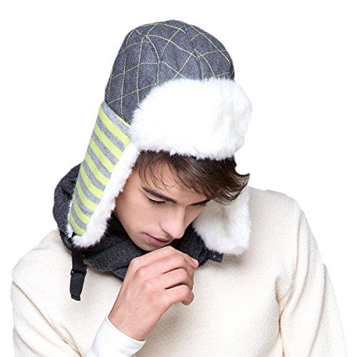Gorras Bombardero Black Gorros Ruso Esquí Aire Lana Invierno Al De Libre Cálido De Grueso De Sombrero Hombre De Sombreros Cuero De De vPEwxn0F