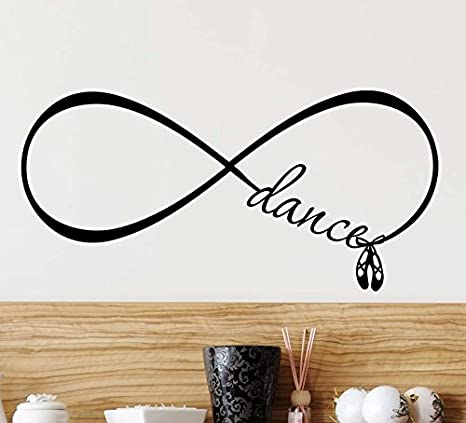 Amazon Com Wall Decal 2 Dance Love Forever Infinity Symbol Cute Ballet Vinyl Wall Quote Saying Inspirational Lettering Motivational Art Sticker Wall Decor Baby