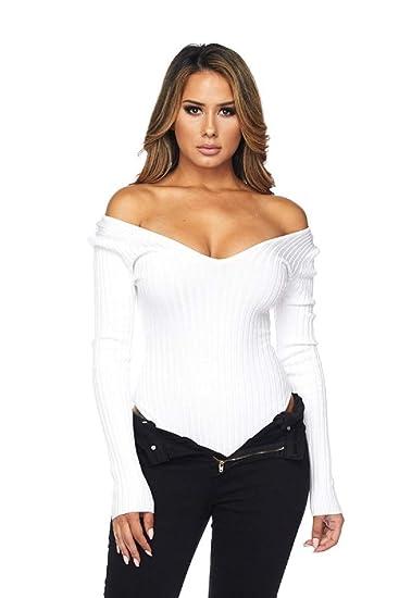35237d9f2aa heiress blank, Women's, White, Off The Shoulder, V Neckline, Long ...