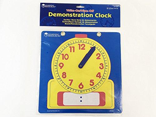51urXoim gL - Learning Resources Write & Wipe Demonstration Clock