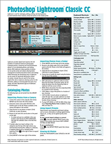 Pdf Photography Adobe Photoshop Lightroom CC Classic Introduction Quick Reference Guide (Cheat Sheet of Instructions, Tips & Shortcuts - Laminated Card)