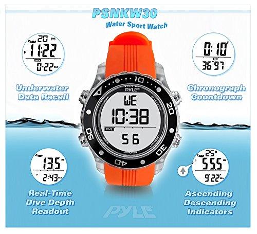 Pyle PSNKW30BK Montre de Plongée sport numérique étanche pour natation Hommes Femmes – Sports aquatiques Fitness Tracker…