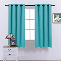 Nicetown Thermal Insulated Blackout Curtains - (Turquoise...