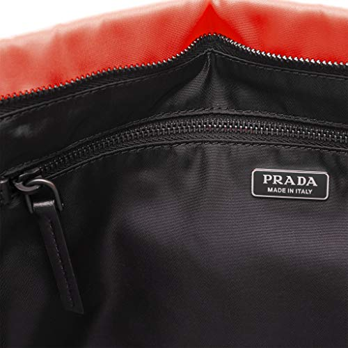 neon Orange Nylon Clutch Padded Medium Prada Women��s qxwOSXOa
