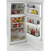 Avanti FF99D0W 24 Top Freezer Refrigerator with 9.9 cu. ft. Capacity Adjustable Glass Shelves Reversible Doors, White