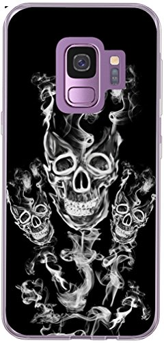 (Galaxy S9 Case Skull & Galaxy S9 Cover & MUQR Replacement Skin Rubber Gel Silicone Slim Drop Proof Protection Compatible Protector for Samsung Galaxy S9 & Cool Skull)
