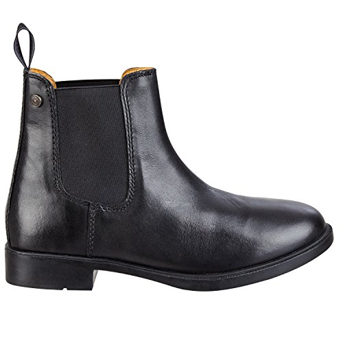 Chelsea Bottes »JODHPUR Classic« Confort bottines en cuir de vachette reitschuh avec robuste semelle caoutchouc et intérieure chaussure à enfiler tailles 29-46 Couleurs: Noir & Marron Noir OfGJN