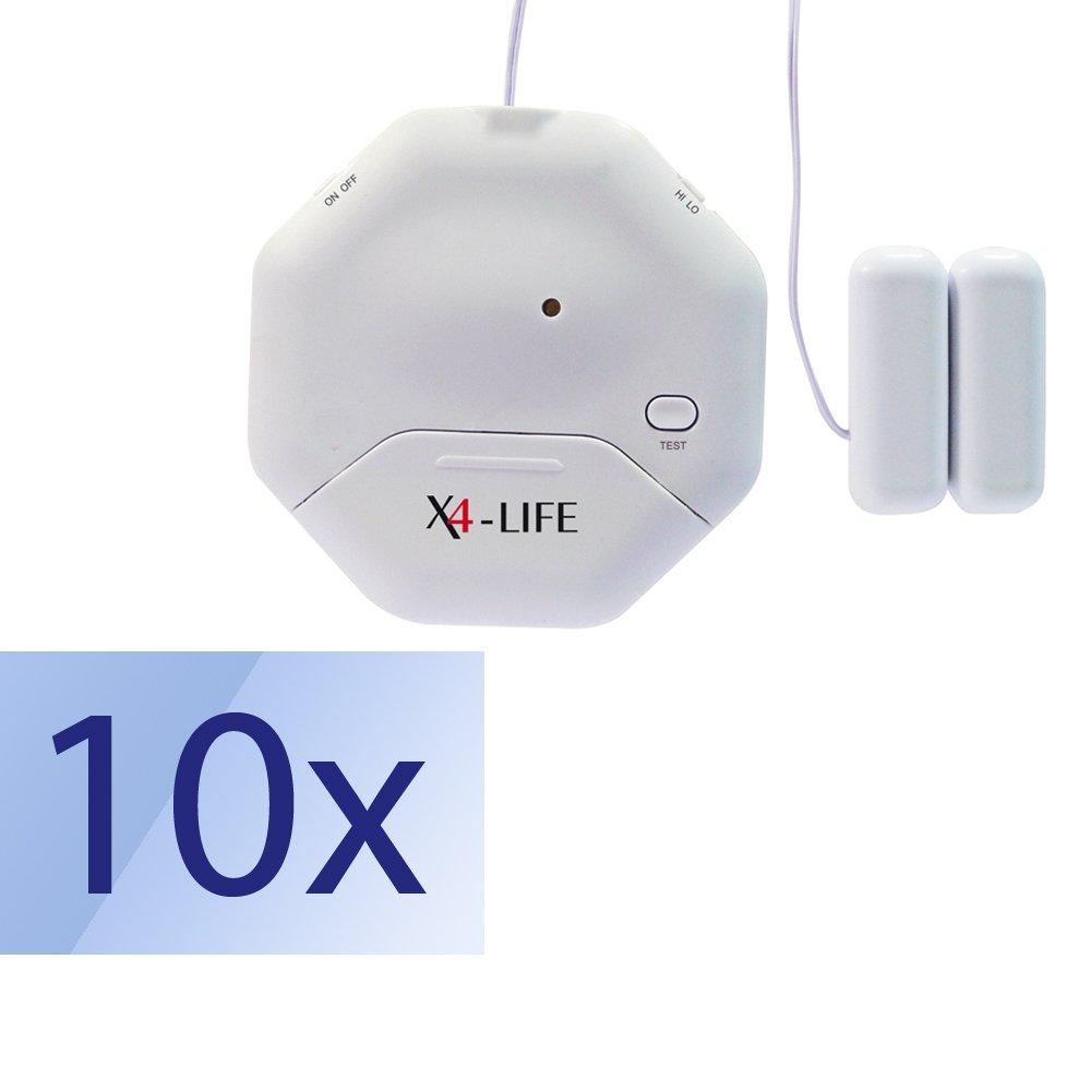 10er-Set X4-LIFE Security Glasbruch- und Öffnungs-Alarm Einbruch Abwehr 10 Stück