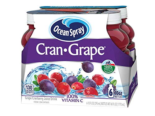 Ocean Spray Juice Drink, Cran-Grape, 10 Ounce Bottle (Pack of 6) (Grape Fruit Juice Concentrate)
