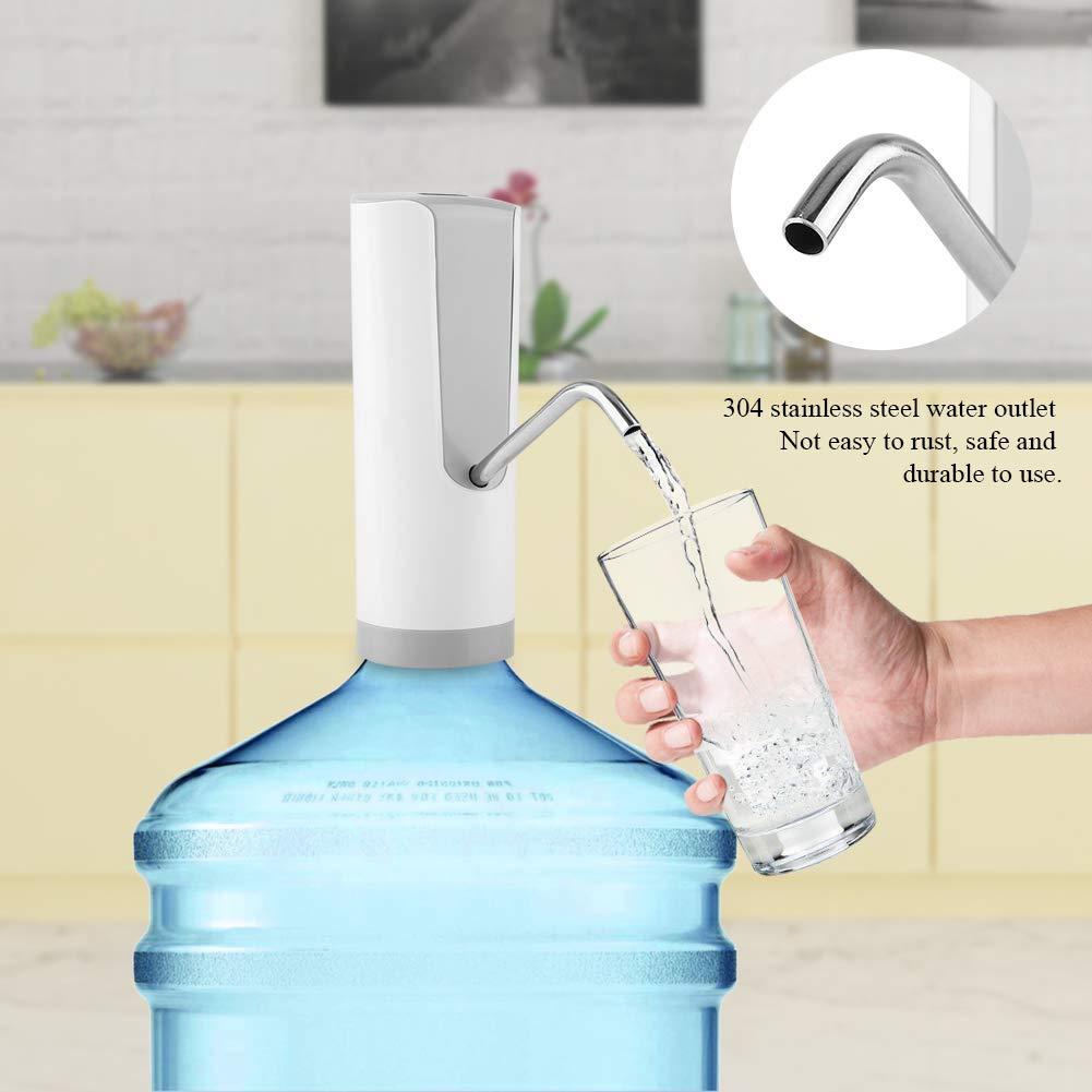 FTVOGUE Interruptor automático del botón del dispensador de la Botella de Agua de la Carga por USB de la Bomba de Agua para el Uso casero de la Oficina de ...