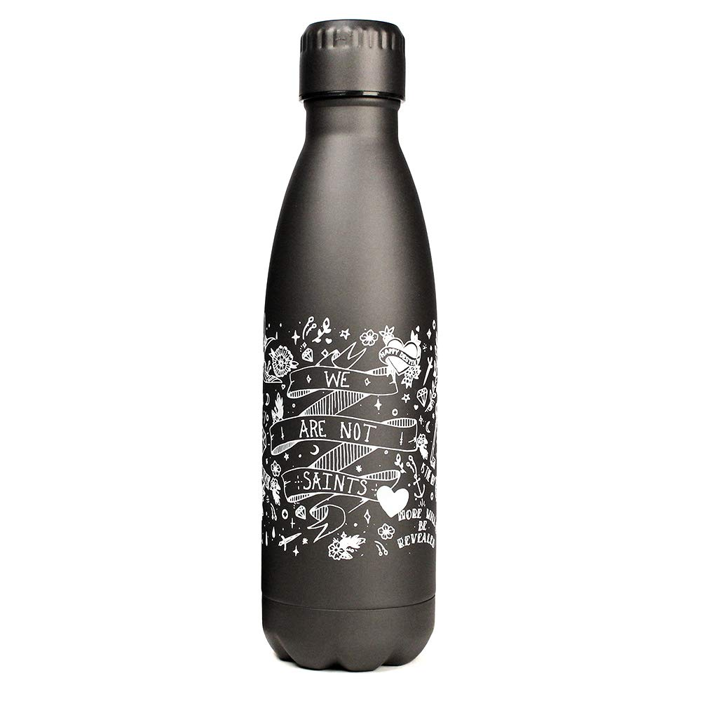 AA Vacuum Insulated Recovery Stainless Steel Water Bottle 17 Ounce Double Walled NA or Rehab Best Sobriety Gifts for Men and Women in Alcoholics Anonymous Sober Tattoo Sleeve Water Bottle