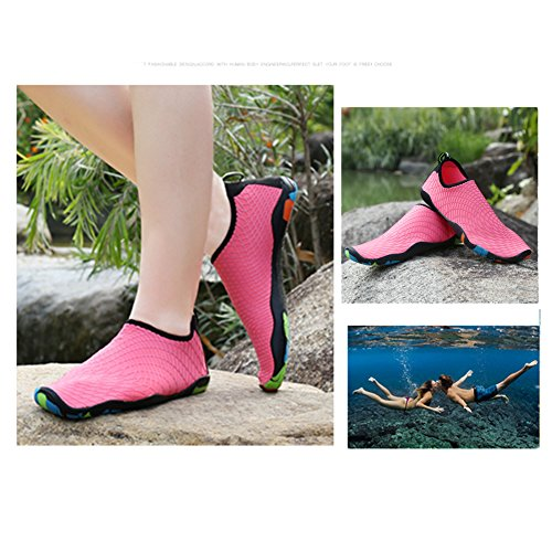 Avec Aqua Plage Saguaro Bain Femmes De Trous Pour Hommes Pieds Chaussures Peau Piscine Eau Rose Drainage Schage Rapide Nus Chaussettes BSO0qSg