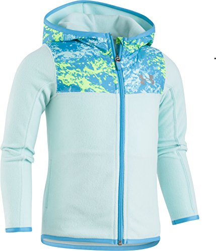 Under Armour Little Girls' Range Camo Hundo FZ Hoody, Blue Infinity, 5 (Blue Camo Under Armour Sweatshirt)