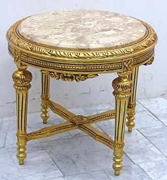 Louisxv Table Baroque Table Basse Doré Marbre Beige Awta0254gobg De