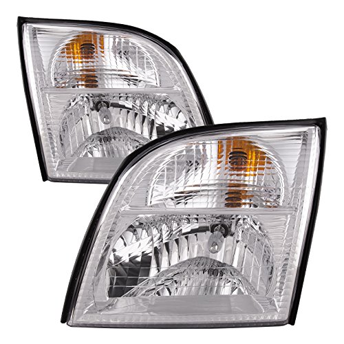 Headlights Depot Replacement for Mercury Mountaineer Halogen Headlight ()