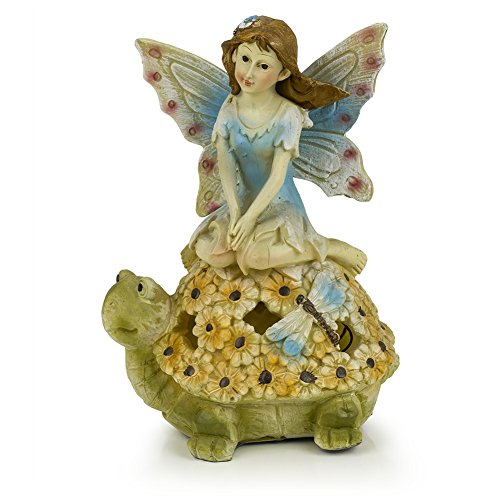 (Fairy Butterfly Wings Turtle Solar Garden Light)