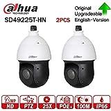 Dahua 2MP PTZ IP Camera SD49225T-HN High Speed 25x Starlight IR IP Dome Camera 16X Digital Zoom IP66 Waterproof 2pcs