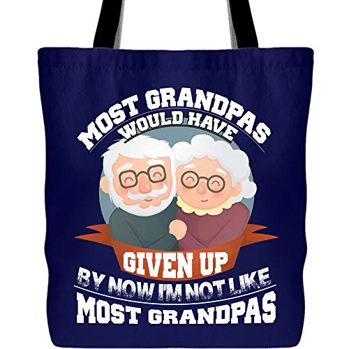 My Grandpas Canvas Tote Bags, I'm Not Like Most Grandpas Tote Bag for Shopping (Tote Bags - -