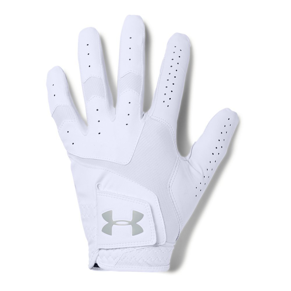 Under Armour Men's CoolSwitch Golf Glove, White /Steel, Left Hand Small