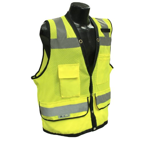 Radians SV59-2ZGD-M Class 2 Heavy Duty Surveyor Safety Vest, Green Mesh Solid, Medium by Radians