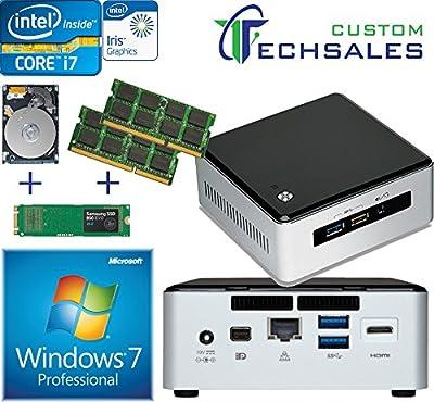 Intel NUC NUC5I7RYH Mini PC i7-5557U, 500GB Samsung SSD, 2TB HDD + 32GB RAM Windows 7 Pro Installed & Configured