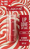 Lakme Lip Love Lip Care, Cherry, 3.8g (Rupees 20 Off)