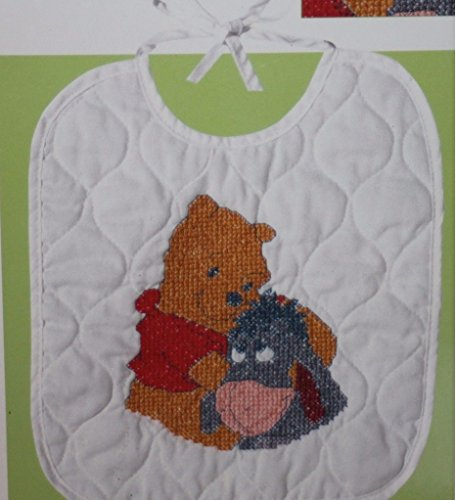 (Disney Pooh & Eeyore Bib Stamped Cross Stitch Kit #1132-82)