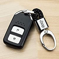Hey Kaulor 2Pack Genuine Leather Car Logo Keychain for Jeep Key Chain Accessories Keyring with Logo