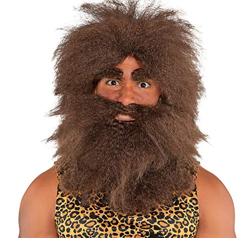 Amscan Hairy Caveman Halloween Costume Accessory Kit for Adults, One Size ()