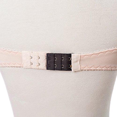 11 per estensione le donna ganci 4 reggiseno Prolunga 3 comoda Aggiungi fasce cinturino Estensione per 2 ganci per file per reggiseno il morbida per del di xwqR48pq