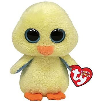 TY Basket Beanie Goldie - Pato de peluche, color amarillo