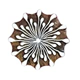 Handcrafted Stylised Flower Wooden Printing Blocks Textile Craft Clay Project Tattoo Pottery Stamps