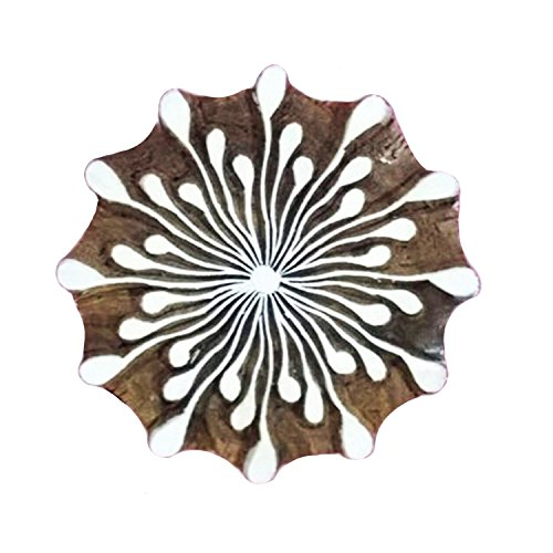 Handcrafted Stylised Flower Wooden Printing Blocks Textile Craft Clay Project Tattoo Pottery Stamps by CraftyArt