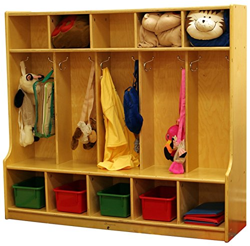 (Learningground Birch 5-Section Locker with Bench (54