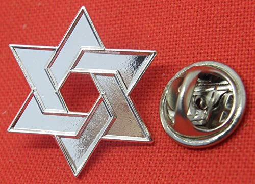 Star of David Jewish Judaism Magen Pin Badge