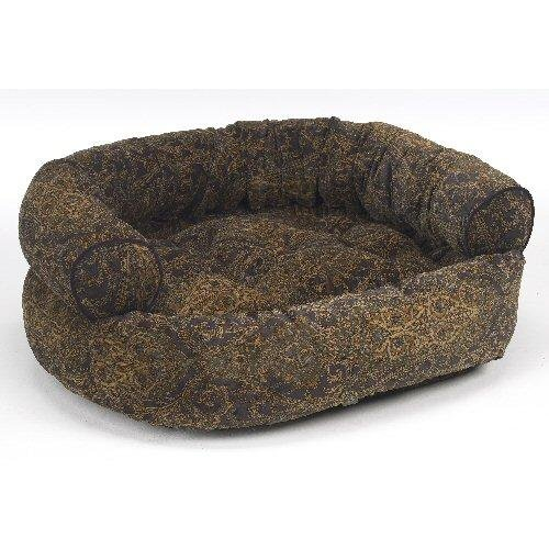 Bowsers Double Donut Dog Bed in Windsor Microvelvet (Windsor, Large (42in x 32in))